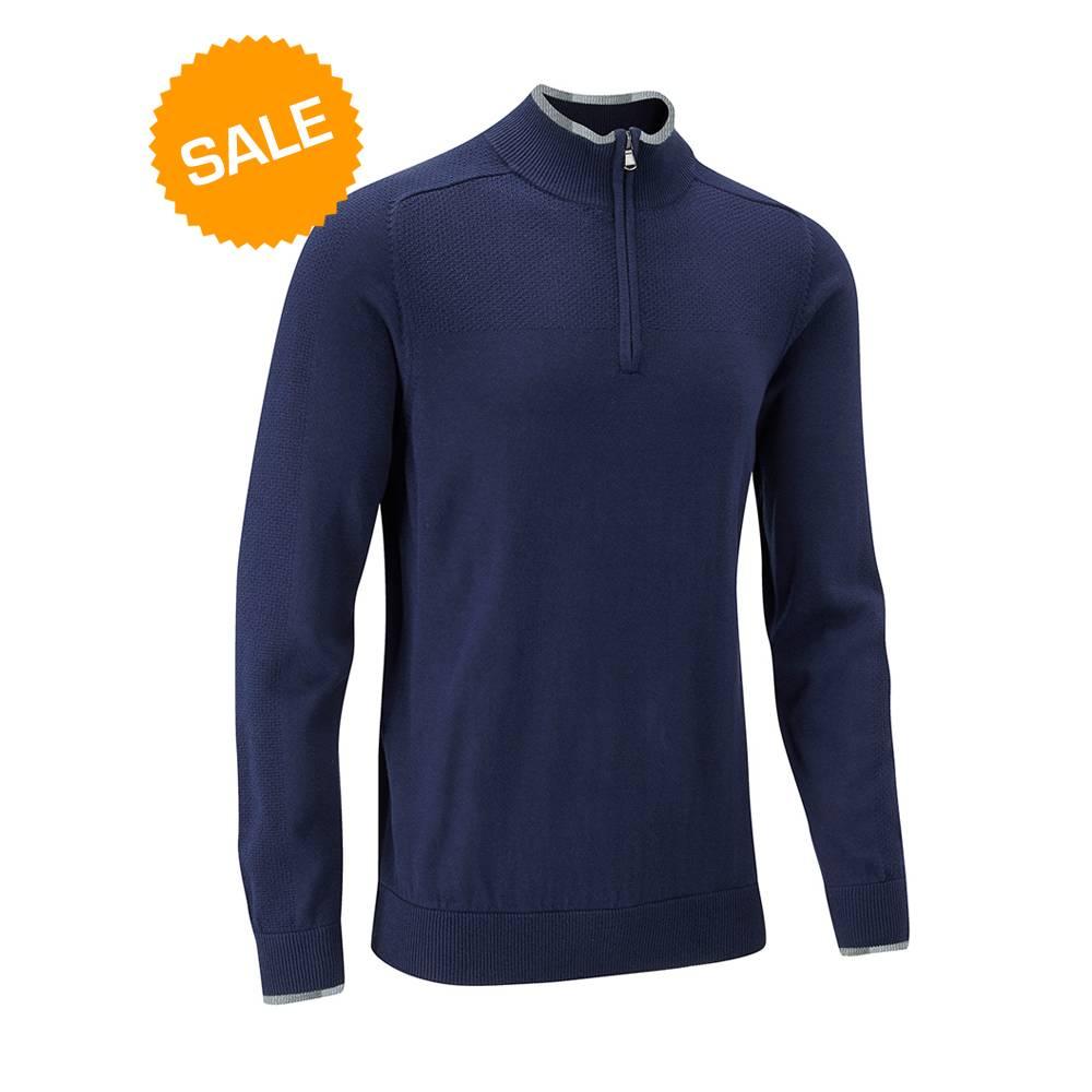 Stuburt Vapour Casual Half Zip Lined Sweater - Midnight blauw