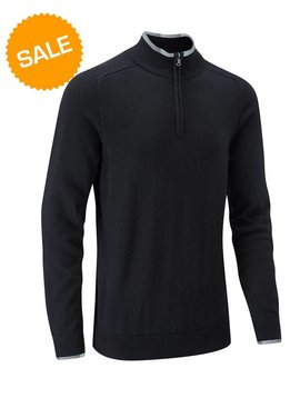 Stuburt Vapour Casual Half Zip Lined Sweater - Zwart