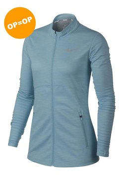 Nike Dames Dry full Zip Top - Ocean Bliss