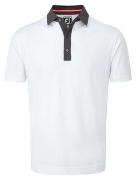 FootJoy Smooth Pique Polo - Wit/Charcoal