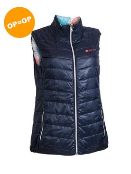 BackTee Dames Reversible Bodywarmer - Navy