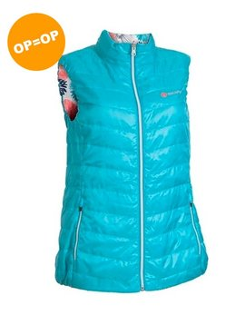BackTee Dames Reversible Bodywarmer - Aqua
