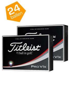 Titleist Pro V1x -Double pack 24-ballen