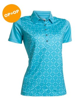 BackTee Printed Polo - Turquoise