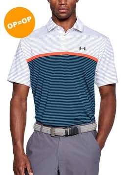 Under Armour HG Playoff Super Stripe Polo - Wit