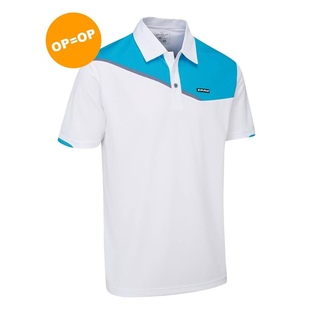 Stuburt Urban Corby Golfpolo - Wit/Aqua