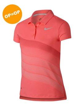 Nike Girls Dry Print Polo - Roze