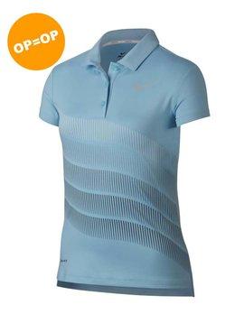Nike Girls Dry Print Polo - Ocean Bliss