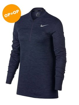 Nike Dames Dry Half Zip Top - Blauw