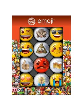 Emoji Novelty pack - 12 golfballen