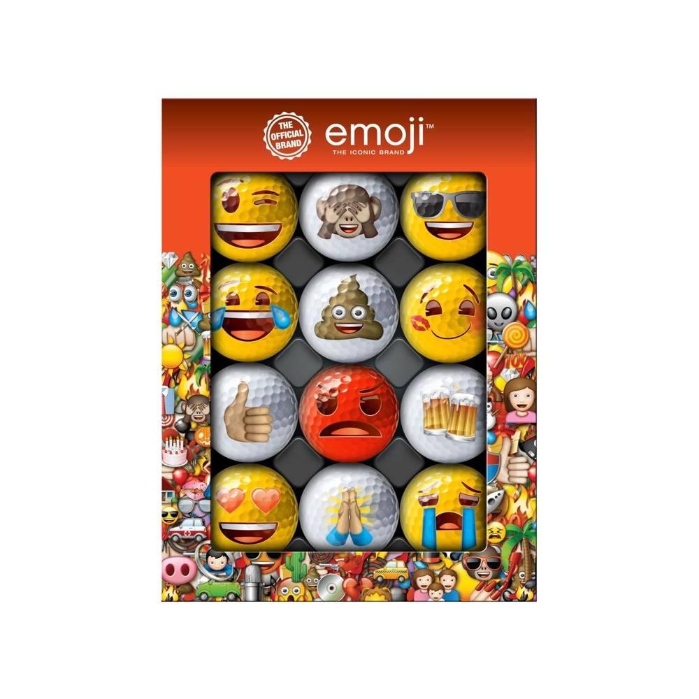 Emoji Novelty pack - 12 golfballen
