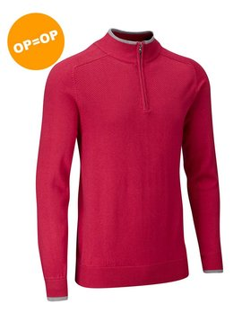 Stuburt Vapour Casual Half Zip Lined Sweater - Berry (Rood)
