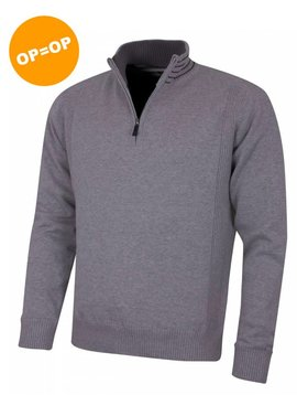 Island Green 1/4 Zip Windproof Golf Sweater - Donker Grijs
