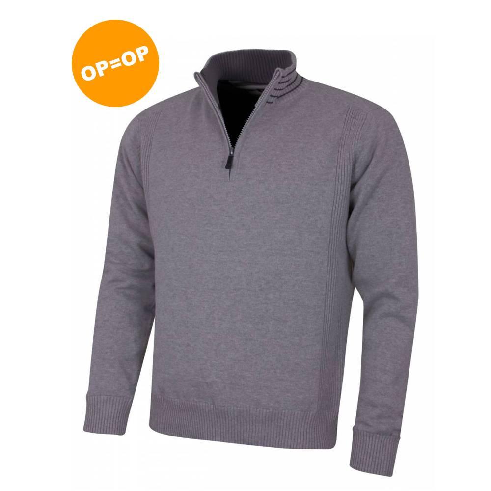 Island Green 1/4 Zip Windproof Golf Sweater - Donker Grijs