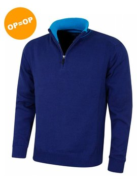 Island Green 1/4 Zip Windproof Golf Sweater - MidNight Blauw