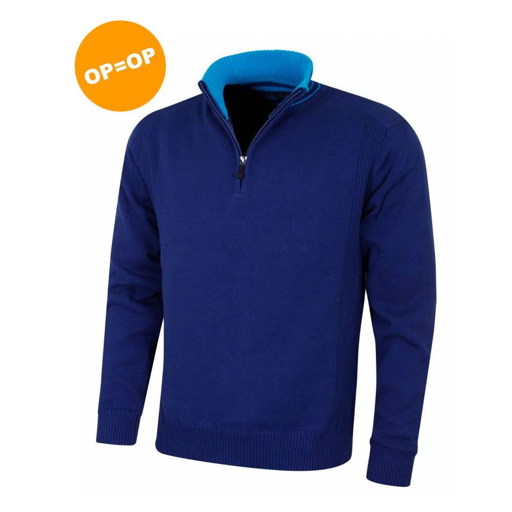 Island Green 1/4 Zip Windproof Golf Sweater - MidNight Blauw
