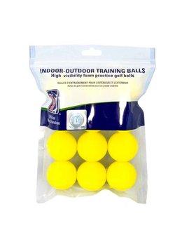 PGA Tour Foam oefenballen- Geel - 12 stuks