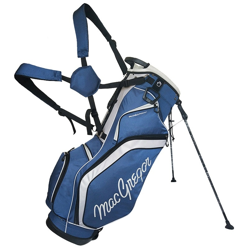 Macgregor Golf Response 9 inch draagtas - Navy/Zilver