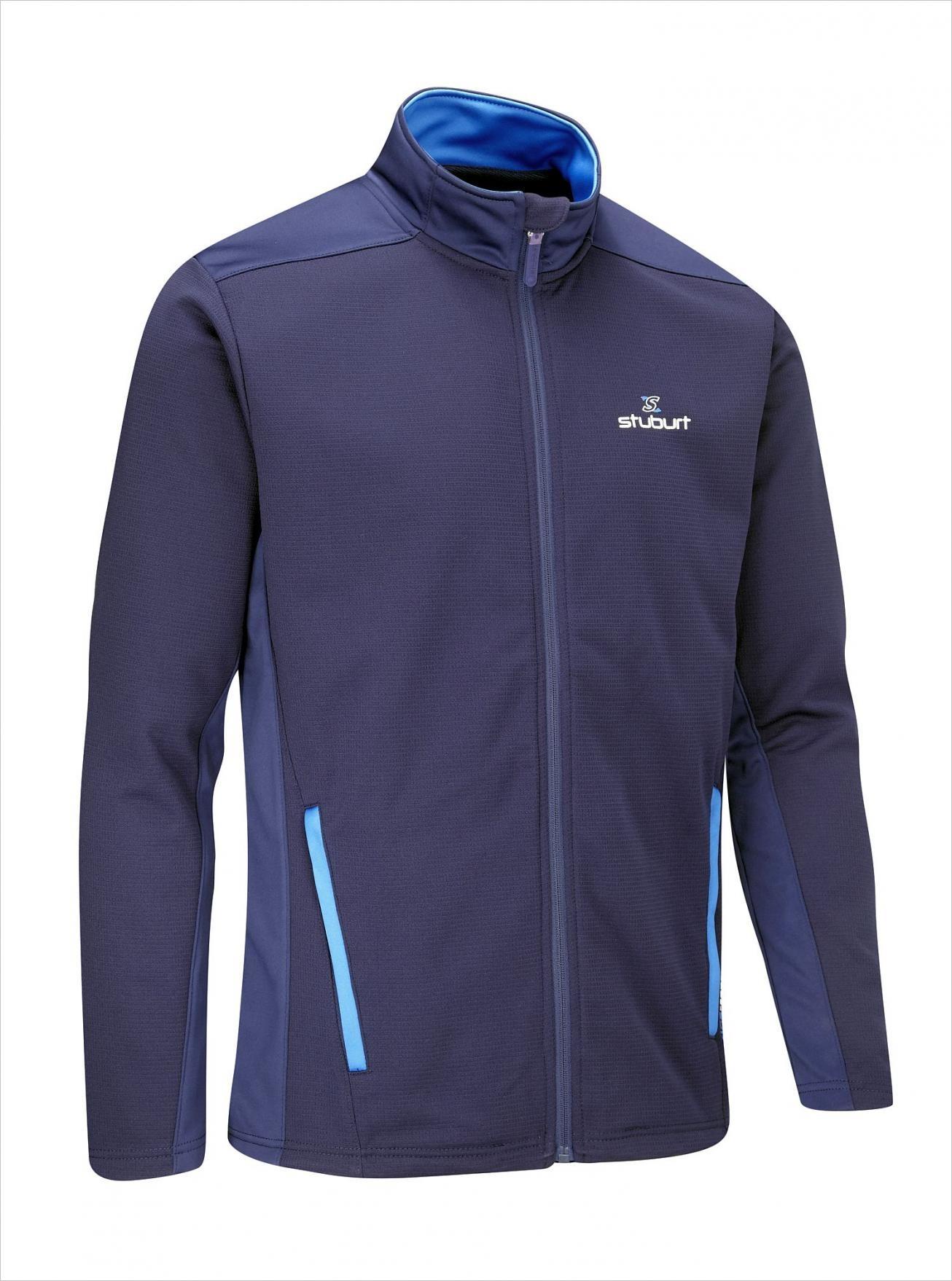 Stuburt Endurance Full Zip Fleece Heren Golf Trui - Midnight Blauw