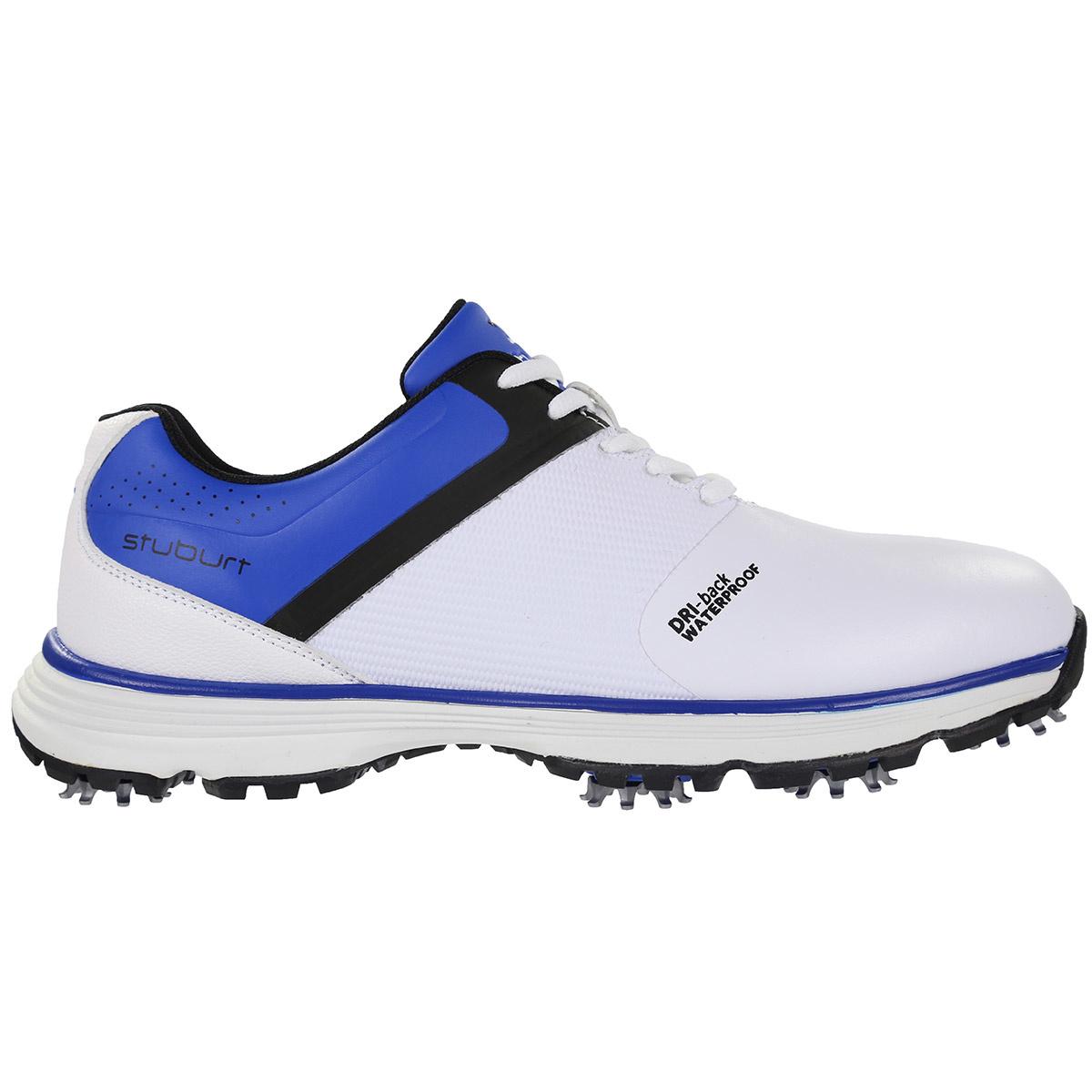 Stuburt PCT - sport heren golf schoenen - Wit/Blauw