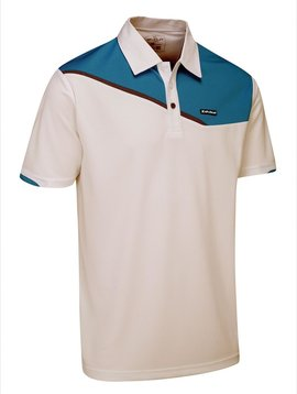 Stuburt Urban Corby Golf Polo - Wit/Aqua