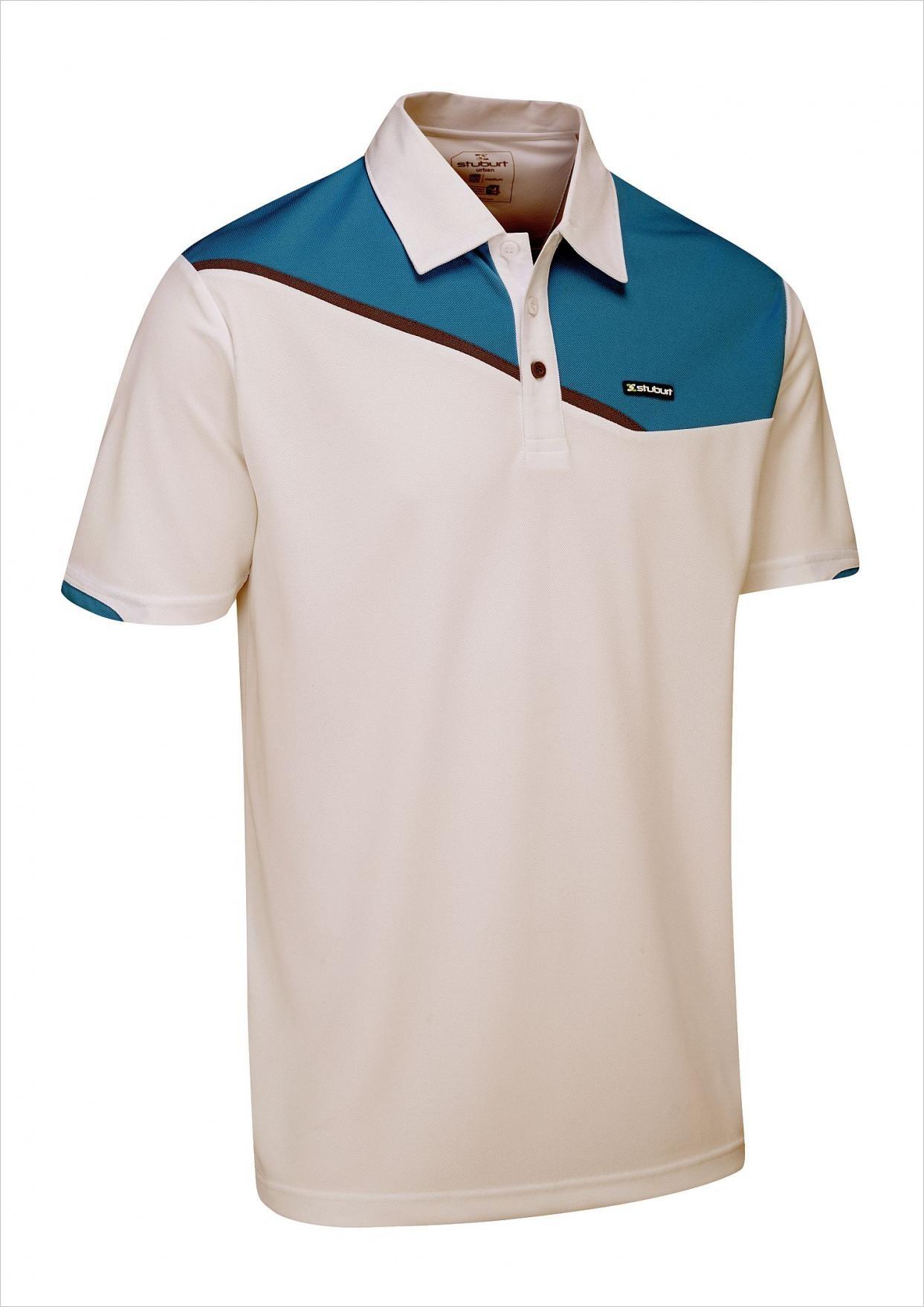 Stuburt Urban Corby Golf Polo - Wit/Aqua