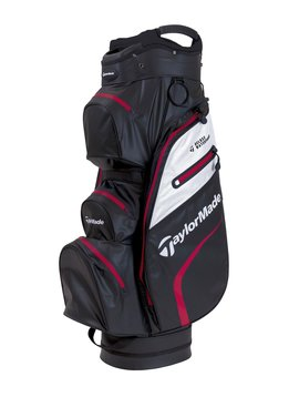 TaylorMade Delux Waterproof Golf Cartbag - Zwart/Wit/Rood