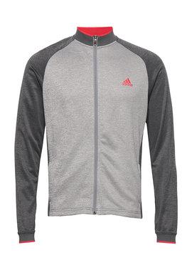 Adidas Heren Midweight Full-Zip Textured Jacket - Grijs