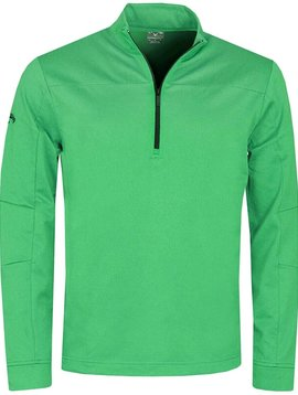 Callaway Pieced Waffle 1/4 Zip Pullover Golf Sweater - Irish Green