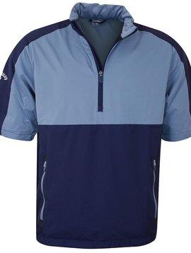 Callaway Heren Golf Wind Jack met korte mouw - Blauw