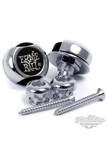 Ernie Ball Ernie Ball Super Strap Locks Nickel slot voor gitaarband (set van 2) EB4600