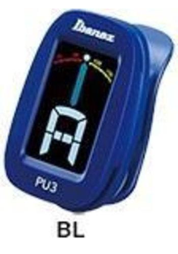Ibanez Ibanez PU3 Clip-on Tuner blauw