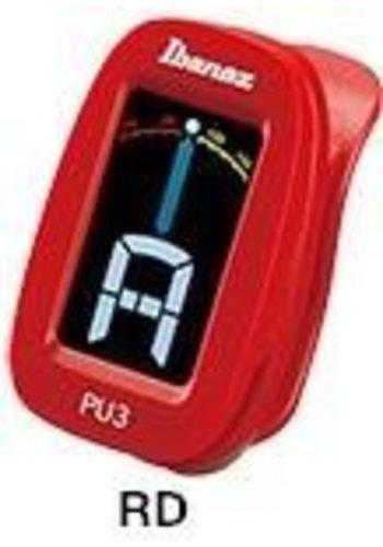 Ibanez Ibanez PU3 Clip-on Tuner rood