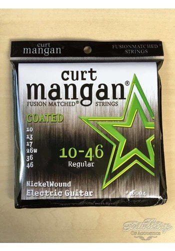 Curt Mangan Curt Mangan 16004 Fusion 10-46 Nickel Long Life COATED Guitar strings