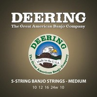 Deering Medium Gauge 5-string Banjo Strings