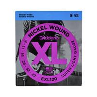 D'Addario EXL120 Nickel Wound Super Light