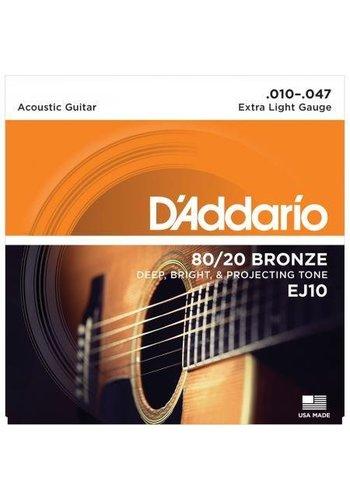 D'Addario D'Addario EJ10 80/20 Bronze Extra Light 10-47