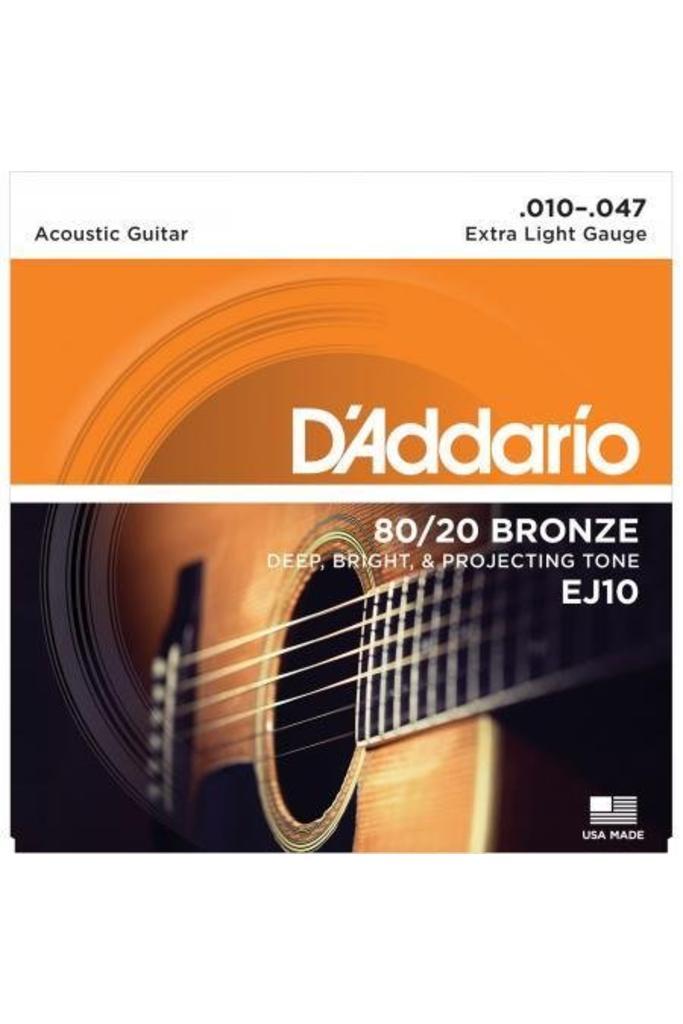 D'Addario EJ10 80/20 Bronze Extra Light