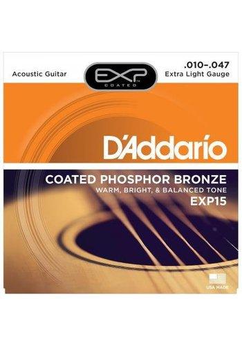 D'Addario D'Addario EXP15 Coated Phosphor Bronze Extra Light 10-47