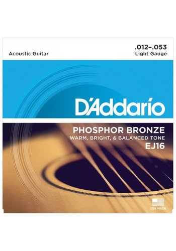 D'Addario D'Addario EJ16 Phosphor Bronze Light 12-53