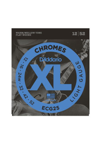 D'Addario D'Addario ECG25 Chromes Flat Wound Light 12-52