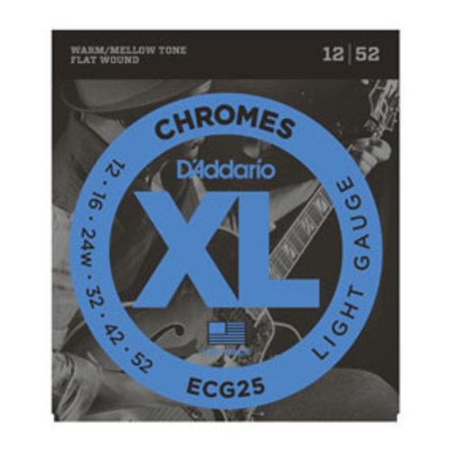 D'Addario D'Addario ECG25 Chromes Flat Wound Light 12-52