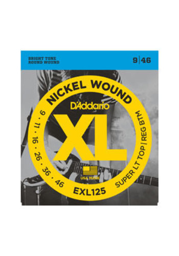 D'Addario D'Addario EXL125 Nickel Wound Super Light Top/ Regular Bottom 9-46