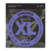D'Addario ECG24 Chromes Flat Wound Jazz Light 11-50