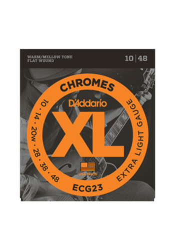 D'Addario D'Addario ECG23 Chromes Flat Wound Extra Light 10-48
