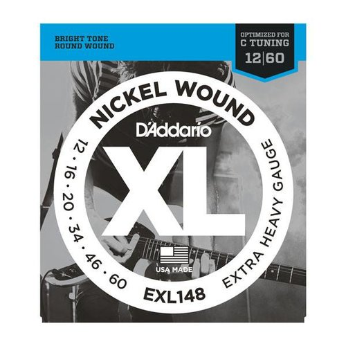 D'Addario D'Addario EXL148 Nickel Wound Electric Guitar Strings Extra Heavy Gauge 12 - 60