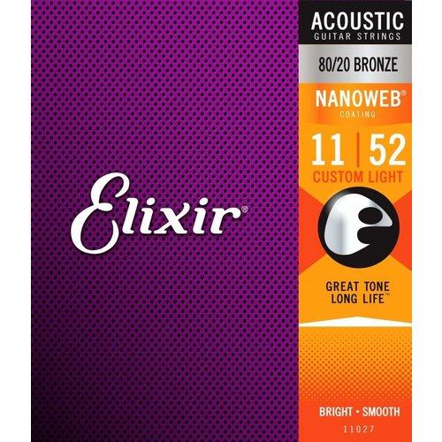 Elixir Elixir  Acoustic Nanoweb 80/20 Bronze 11-52