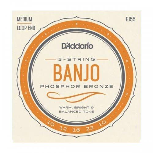 D'Addario D'Addario EJ55 Banjo Phosphor Bronze Loop End Medium