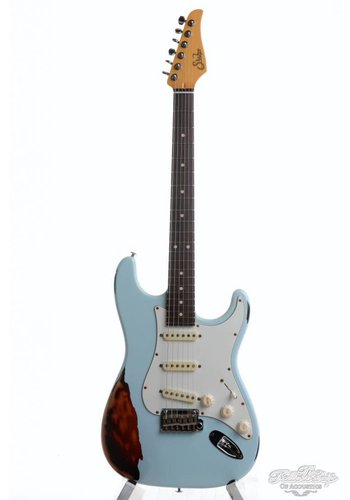 Suhr Suhr Classic Antique RW Aged Sonic Blue over Sunburst SSS