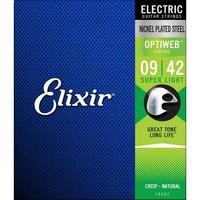 Elixir Optiweb Nickel Plated Steel extra light 09-42